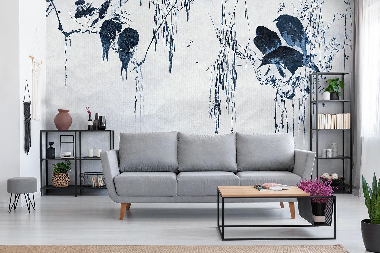 mural birds